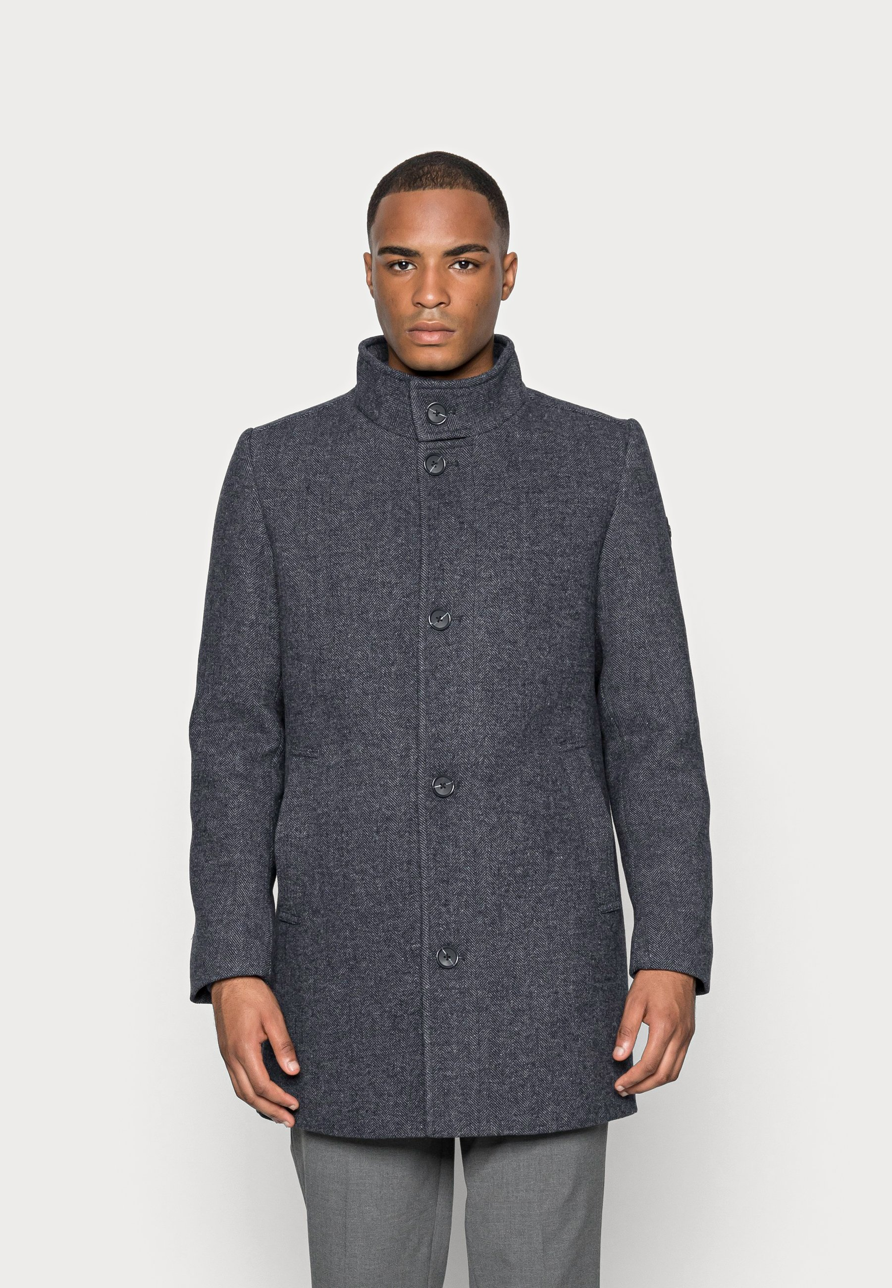 Homme COAT WITH STAND UP COLLAR - Manteau court