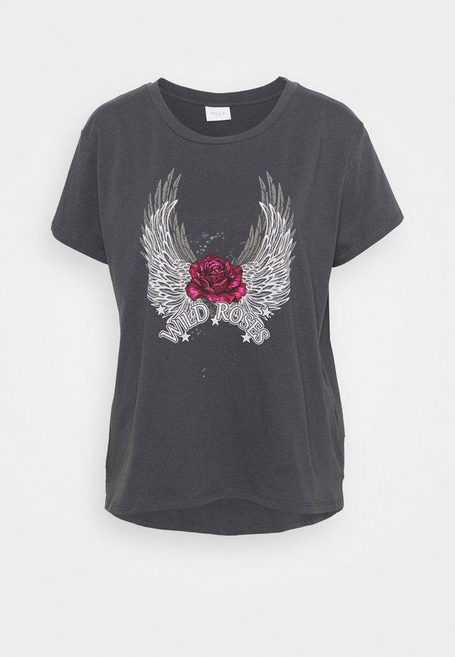 VIROCKSY ROCK  - T-shirt imprimé - asphalt