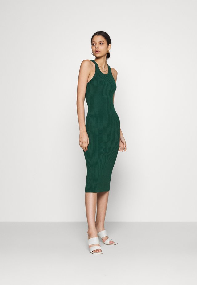 RACERBACK MIDI DRESSES WITH ROUND NECKLINE - Robe pull - forest green