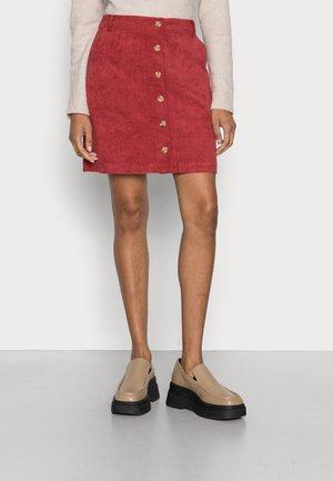 SKIRT - Mini skirt - dark red