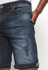 Cars Jeans - BECKER - Denim shorts - blue black - 3