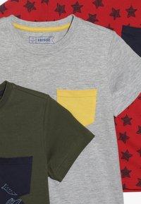 Friboo - 5 PACK  - T-shirts print - khaki - 4