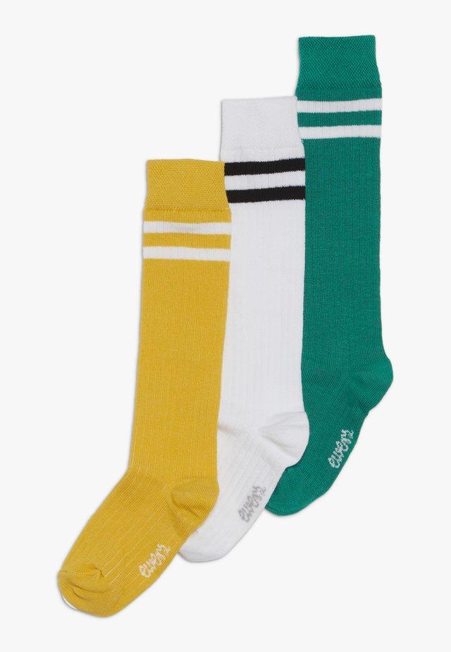 KINDERKNIESTRUMPF 3 PACK - Knee high socks - grün/gelb/weiß