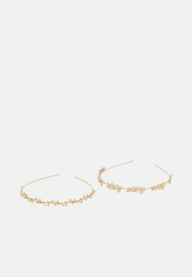 Pieces - PCLEXI HAIRBAND 2 PACK - Hair Styling Accessory - gold-coloured