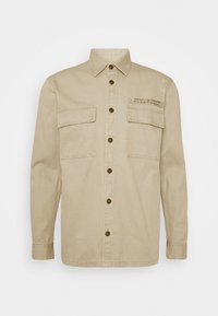 TOM TAILOR DENIM - OVERSHIRT - Lehká bunda - smoked beige - 0