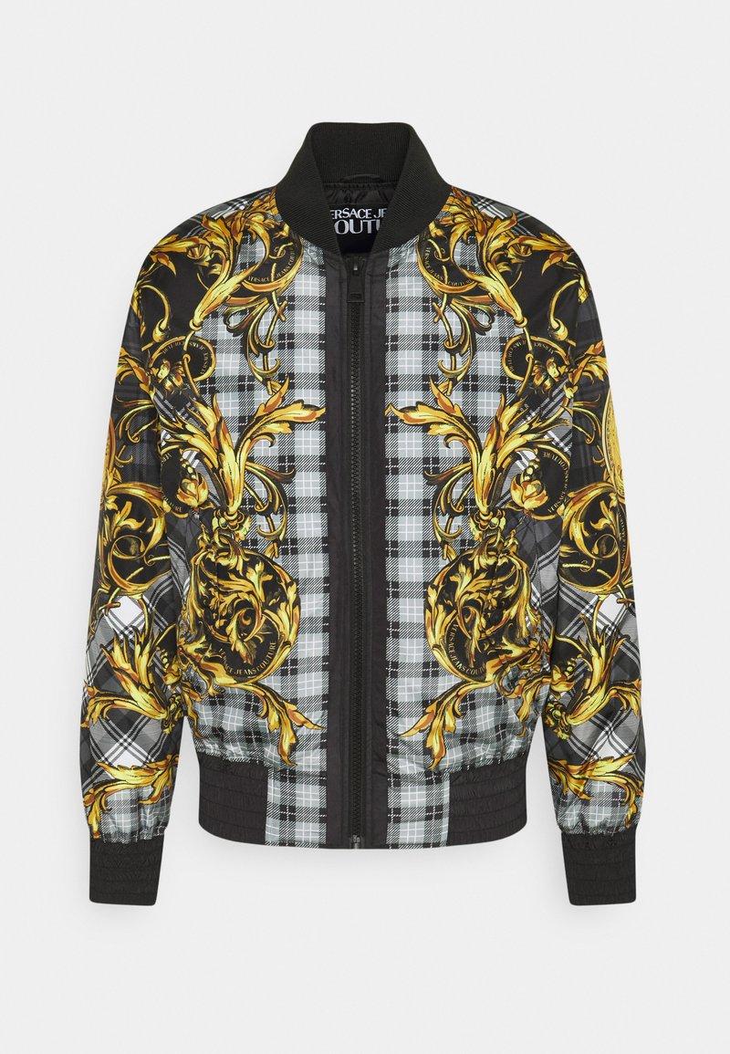 Versace Jeans Couture - TARTAN BAROQUE - Bomber Jacket - grigio/oro