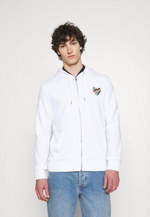 HOODIE HEART PATCH - Zip-up sweatshirt - white