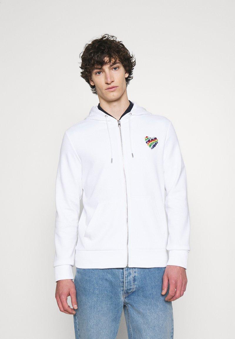 Michael Kors - HOODIE HEART PATCH - Zip-up sweatshirt - white