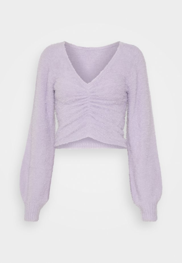 COZY CINCH FRONT  - Pullover - purple