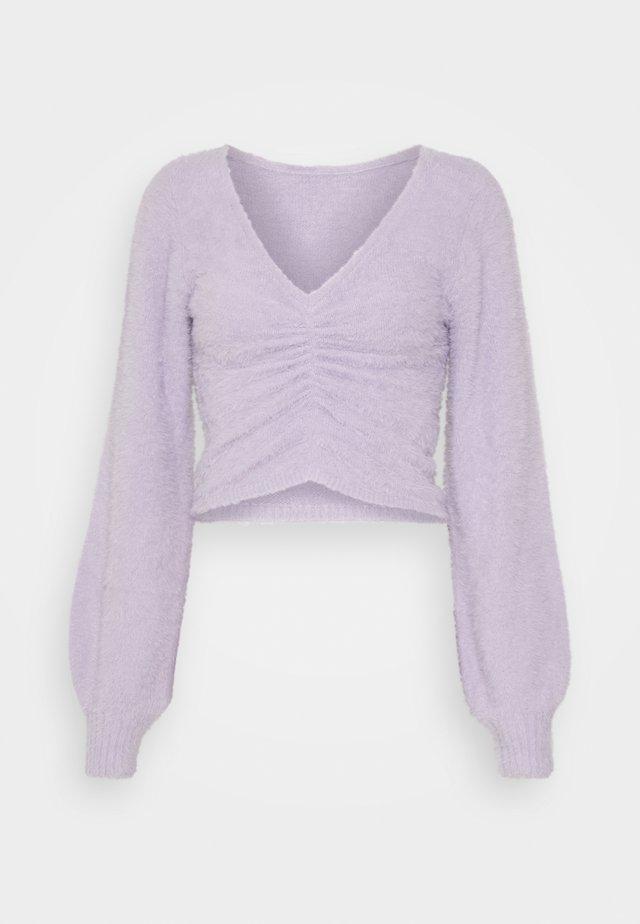 COZY CINCH FRONT  - Stickad tröja - purple