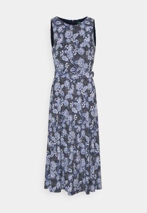 PRINTED MATTE DRESS - Žerzejové šaty - navy/blue/colo