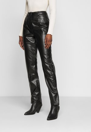 SIDE SPLIT TROUSER - Trousers - black