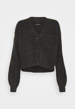 BASIC- SHORT CARDIGAN - Kofta - dark grey mélange