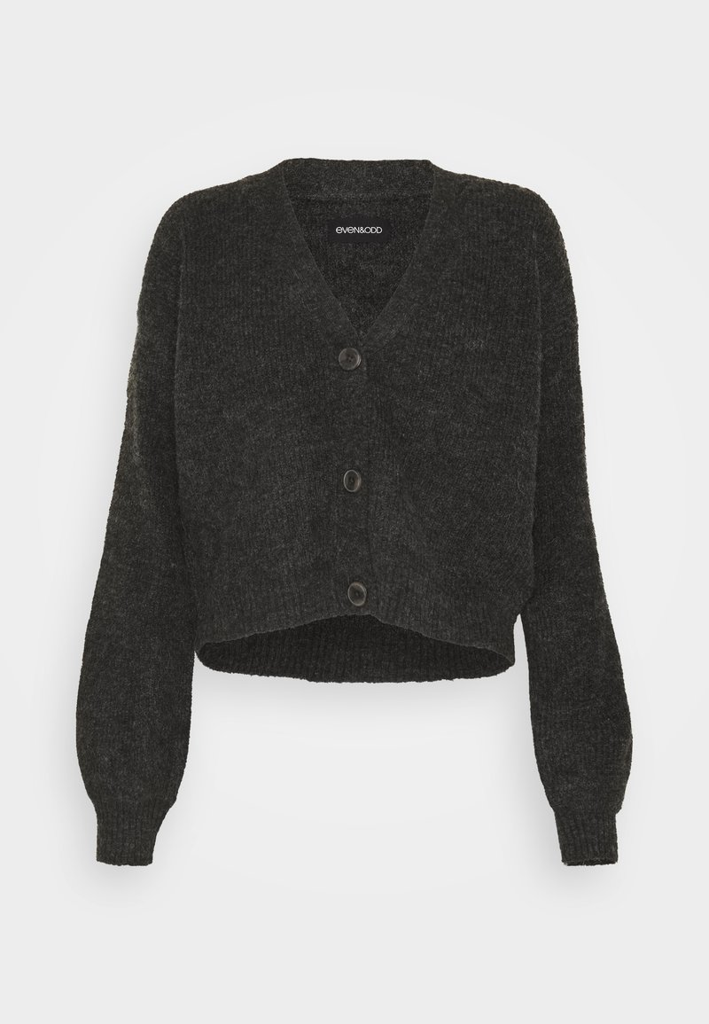 Even&Odd - BASIC- SHORT CARDIGAN - Cardigan - dark grey mélange