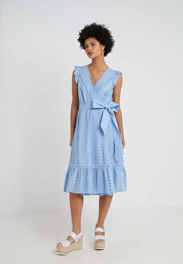 GRAND HEAVY EYELET DRESS - Day dress - frosty sky