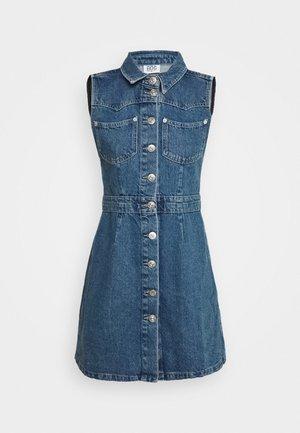WESTERN MINI DRESS - Denim dress - mid vintage