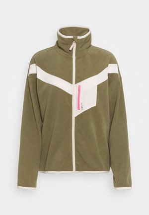Fleece jacket - covert green