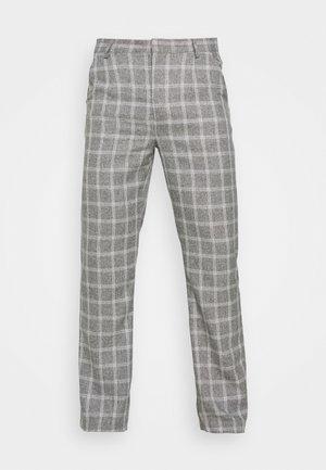 BREEZE STRAIGHT CHECK SUIT TROUSER - Pantalones - grey