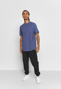 Under Armour - CHARGED COTTON SS - T-shirt basic - blue ink/black - 1