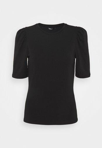 ONLLIVE LOVE LIFE PUFF - Basic T-shirt - black