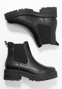 Tamaris - BOOTS - Platform ankle boots - black - 3