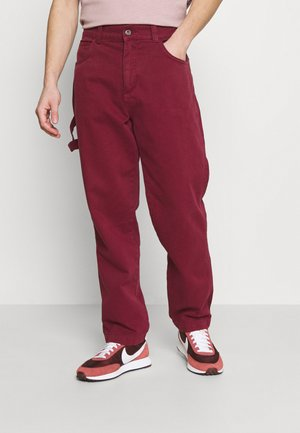 DRILL STRAIGHT LEG TROUSER - Pantalones - tawny port