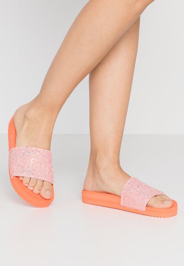 POOL SHIMMER - Pantofle - cantaloupe