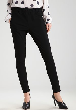 JILLIAN VILJA - Trousers - black deep