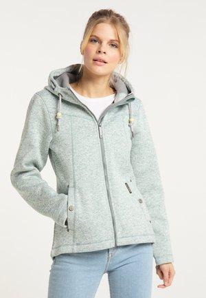 Fleece jacket - rauchmint melange