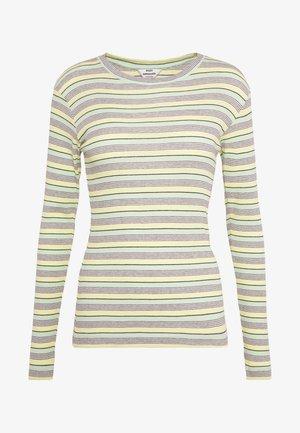 STRIPY TUBA - Topper langermet - pastel yellow/multi