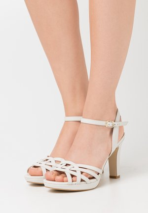 LEATHER - High heeled sandals - white