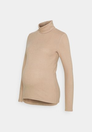 PCMPAM HIGH NECK - Jumper - warm taupe