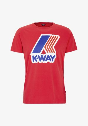 PETE MACRO LOGO - Print T-shirt - red
