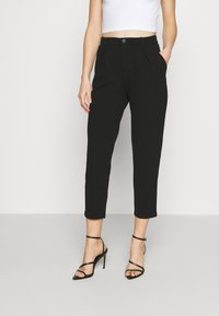 Even&Odd - TAPERED PANTS WITH DART DETAIL  - Trousers - black - 0