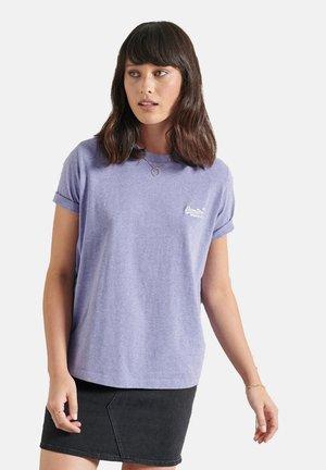 Print T-shirt - lavender marl
