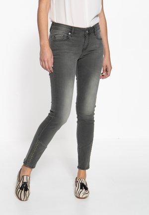 Slim fit jeans - graugrün