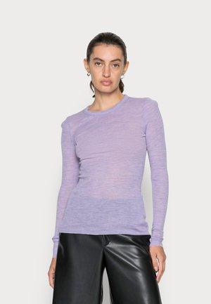 Long sleeved top - purple melange