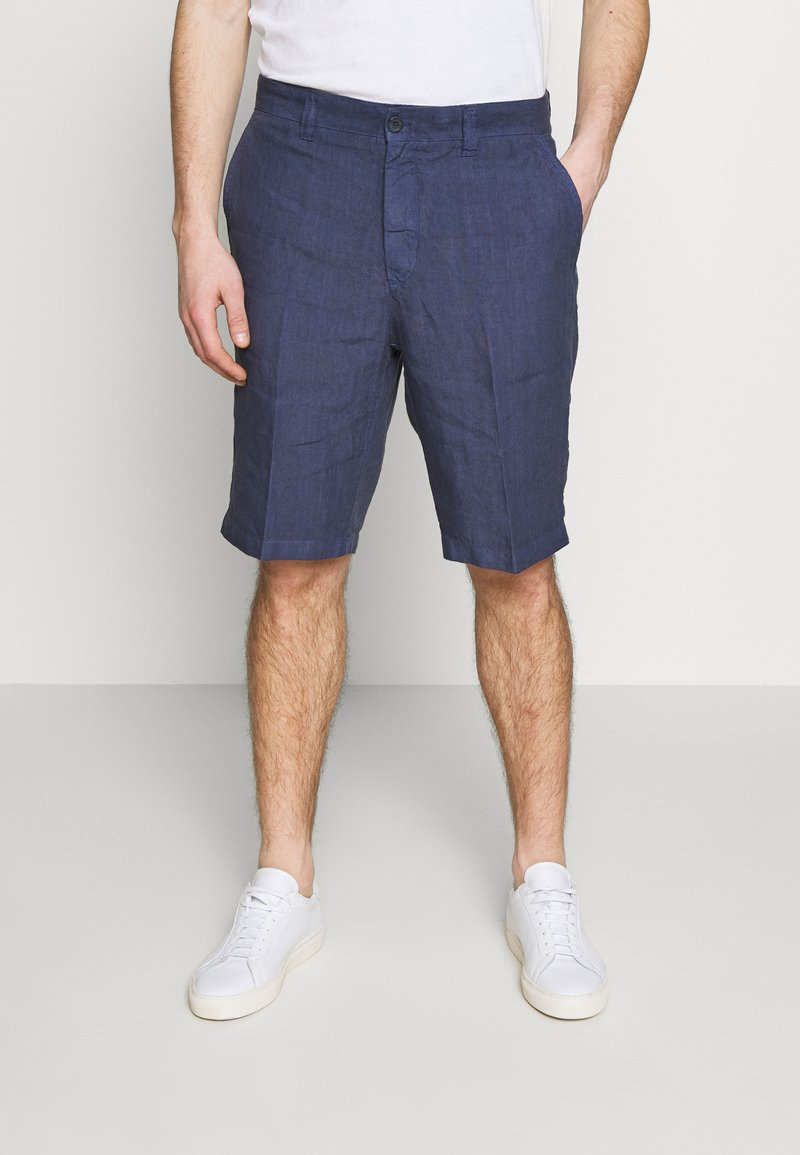 120% Lino - Shorts - dark blue fade