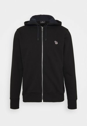 MENS ZIP HOODY - veste en sweat zippée - black