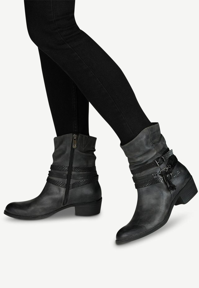 Classic ankle boots - dk.grey a.comb