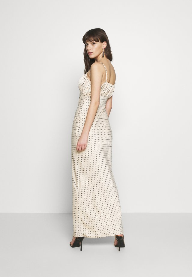 LUXE DOT RUCHED CAMI DRESS - Maxikjole - champagne polka