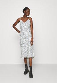 Abercrombie & Fitch - SLIP MIDI DRESS - Day dress - white - 0