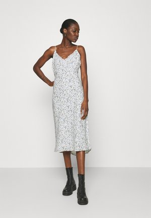 SLIP MIDI DRESS - Day dress - white