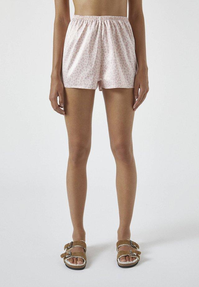 MIT BLUMENPRINT - Pyjamabroek - beige