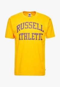 Russell Athletic Eagle R - ICONIC CREW NECK TEE - T-shirt imprimé - yellow - 3