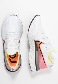 Nike Performance - REACT INFINITY RUN FK - Neutral running shoes - platinum tint/black/pink blast/total orange/lemon - 1