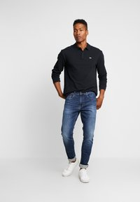 Tommy Jeans - CLASSICS LONGSLEEVE - Polo shirt - black - 1
