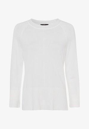 MIT RUNDHALSAUSSCHNITT - Pullover - offwhite