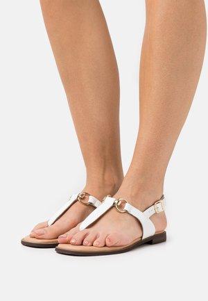 LIMBA - Sandalai su T formos dirželiu - white