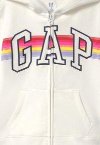 GAP - GIRL LOGO - veste en sweat zippée - milk fox - 2